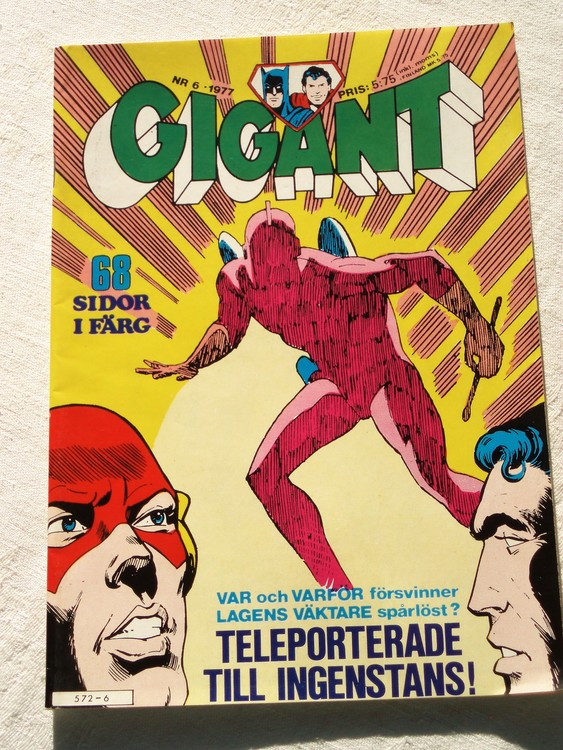 Gigant nr 6 1977,68 sidor NM Near mint,mycket bra skick,ny oläst,mikroskopiska skador