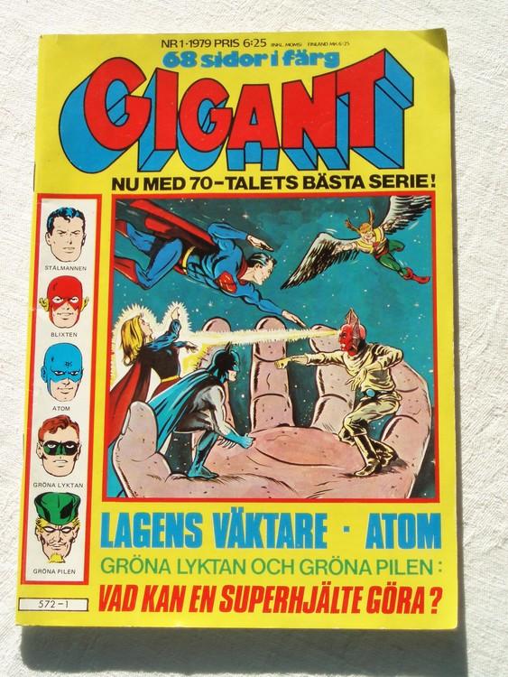 Gigant nr 1 1979,68 sidor NM Near mint,mycket bra skick,ny oläst,mikroskopiska skador