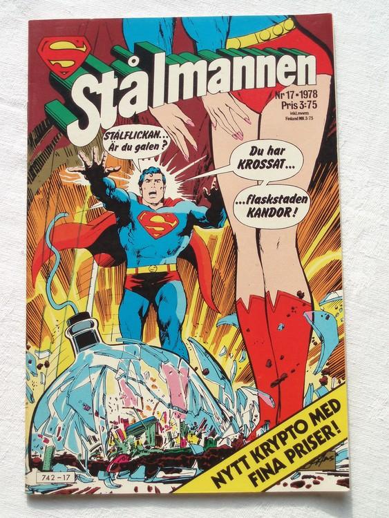 Stålmannen nr17 1978 NM Near mint,mycket bra skick,ny oläst,mikroskopiska skador