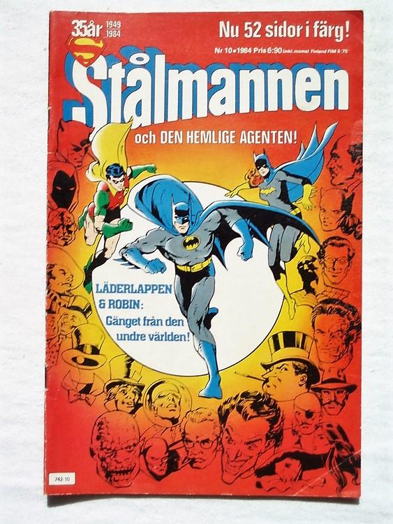 Stålmannen nr10 1984,52 sidor,färg,bättre skick,ena hörnet litet veck