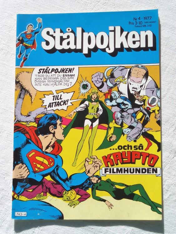 Stålpojken nr4 1977 NM Near mint,mycket bra skick,ny oläst,mikroskopiska skador