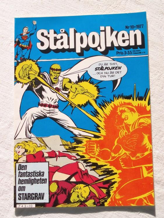 Stålpojken nr10 1977 NM Near mint,mycket bra skick,ny oläst,mikroskopiska skador