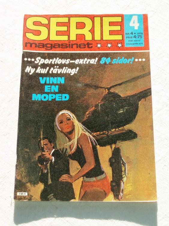 Seriemagasinet nr 4 1978 mycket bra skick ny oläst