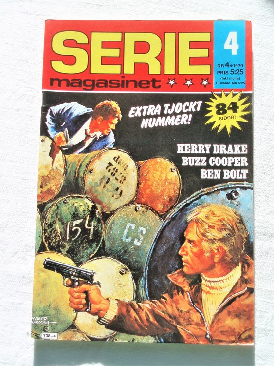 Seriemagasinet nr 4 1979 mycket bra skick ny oläst