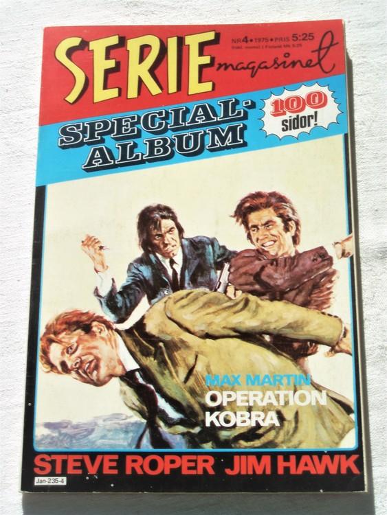 """Serie-magasinet """"Specialalbum""""nr4 1975,mycket bra skick,ny oläst"""