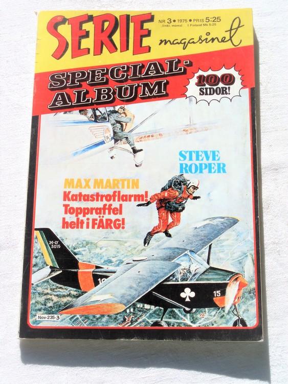 """Serie-magasinet """"Specialalbum""""nr3 1975,mycket bra skick,ny oläst"""