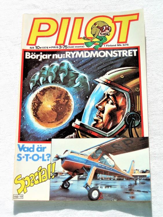 Pilot nr 10 1978 mycket bra skick ny oläst.