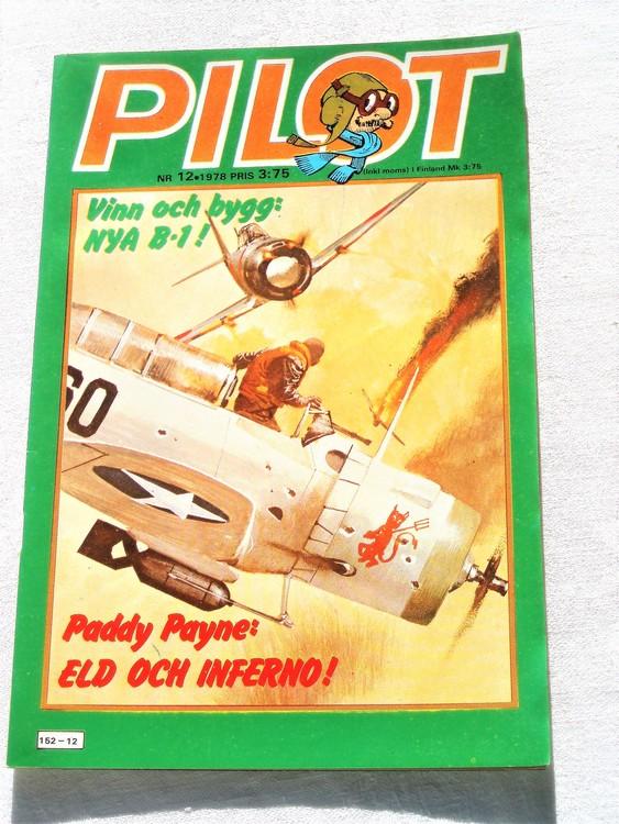 Pilot nr 12 1978 mycket bra skick ny oläst.