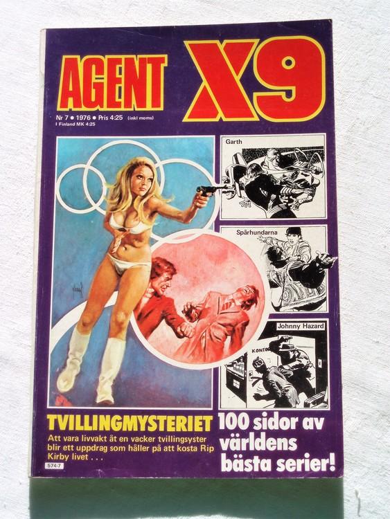 Agent X9 nr 7 1976 normalskick, normalslitet