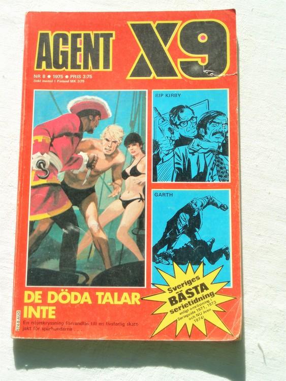 Agent X9 nr 8 1976 normalskick, normalslitet