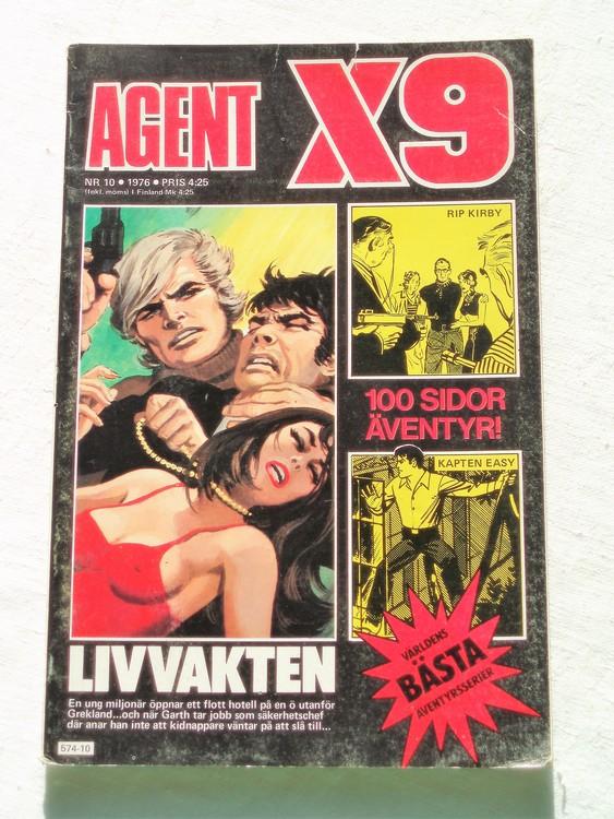 Agent X9 nr 10 1976 normalskick, normalslitet
