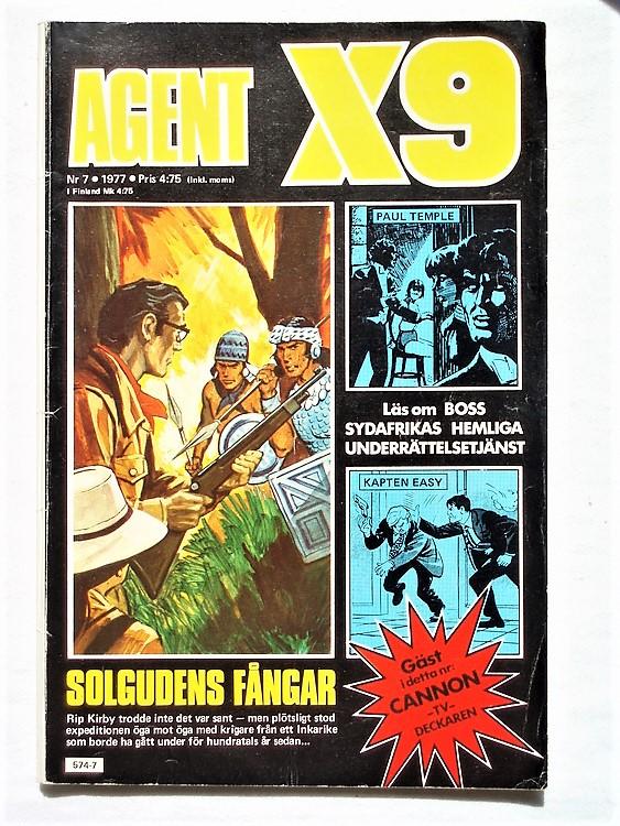 Agent X9 nr 7 1977 normalskick, normalslitet