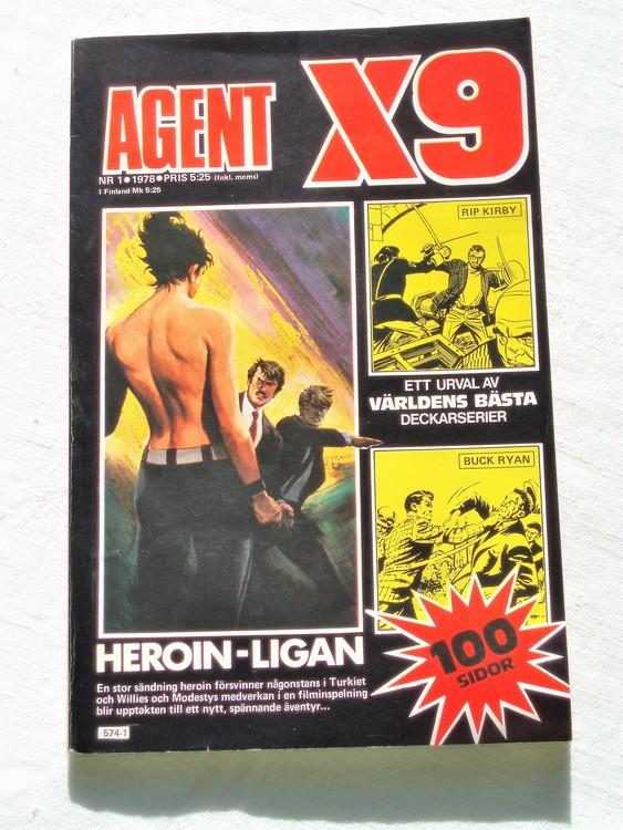 Agent X9 nr 1 1978 mycket bra skick ny oläst.