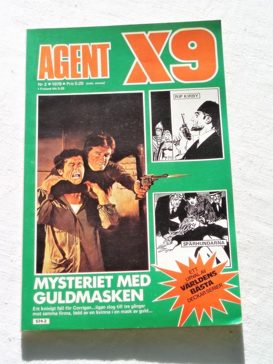 Agent X9 nr 2 1978 mycket bra skick ny oläst.