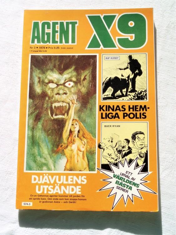 Agent X9 nr 3 1978 mycket bra skick ny oläst.