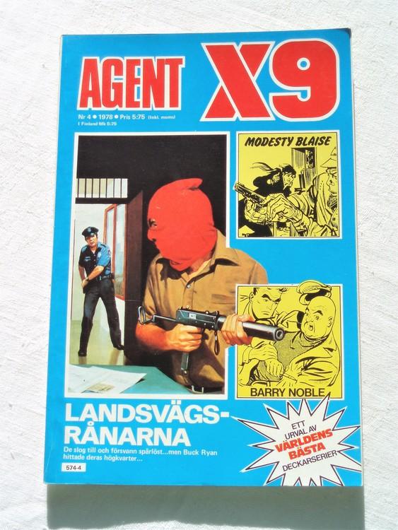 Agent X9 nr 4 1978 mycket bra skick ny oläst.