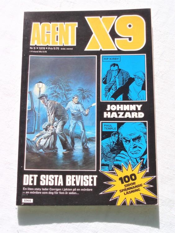 Agent X9 nr 5 1978 mycket bra skick ny oläst.