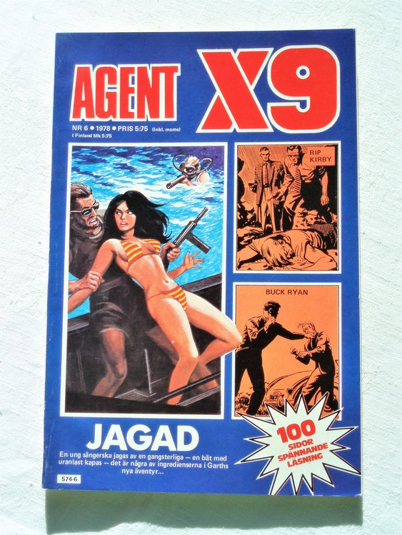 Agent X9 nr 6 1978 mycket bra skick ny oläst.