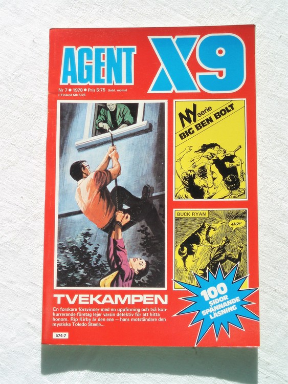 Agent X9 nr 7 1978 mycket bra skick ny oläst.