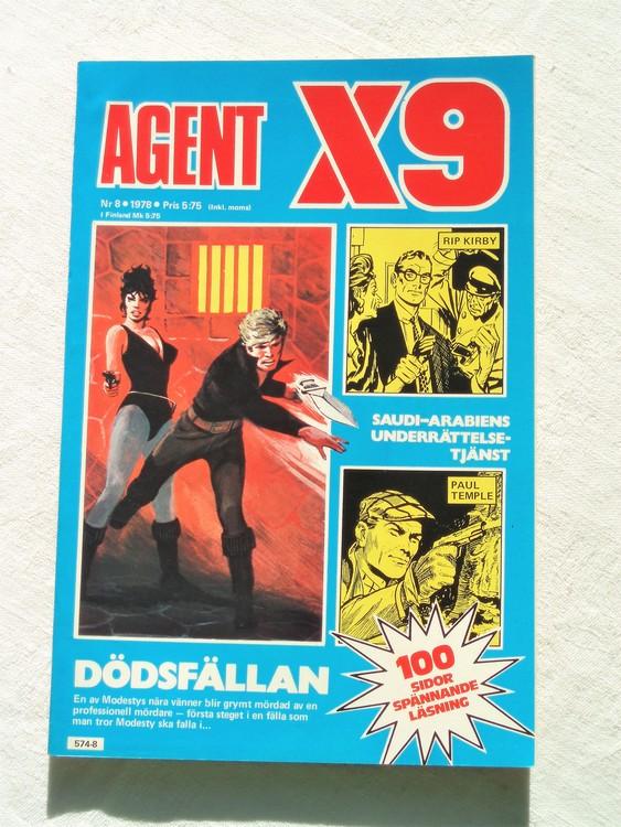 Agent X9 nr 8 1978 mycket bra skick ny oläst.