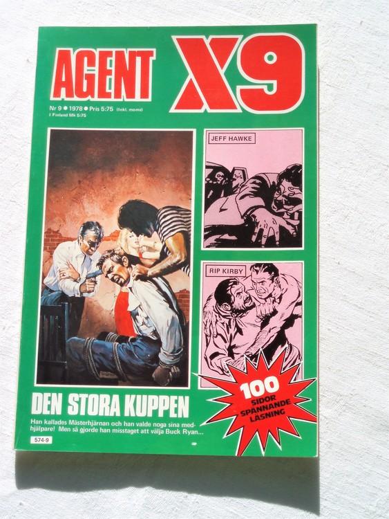 Agent X9 nr 9 1978 mycket bra skick ny oläst.