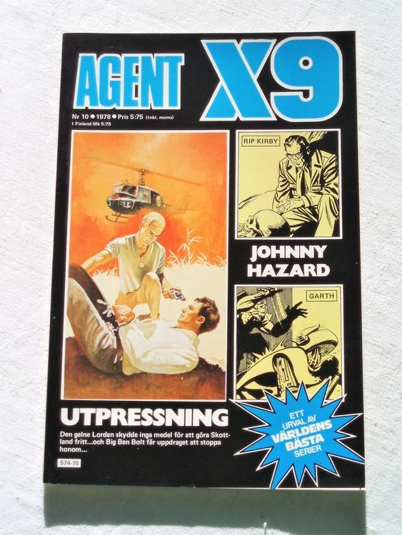 Agent X9 nr 10 1978 mycket bra skick ny oläst.