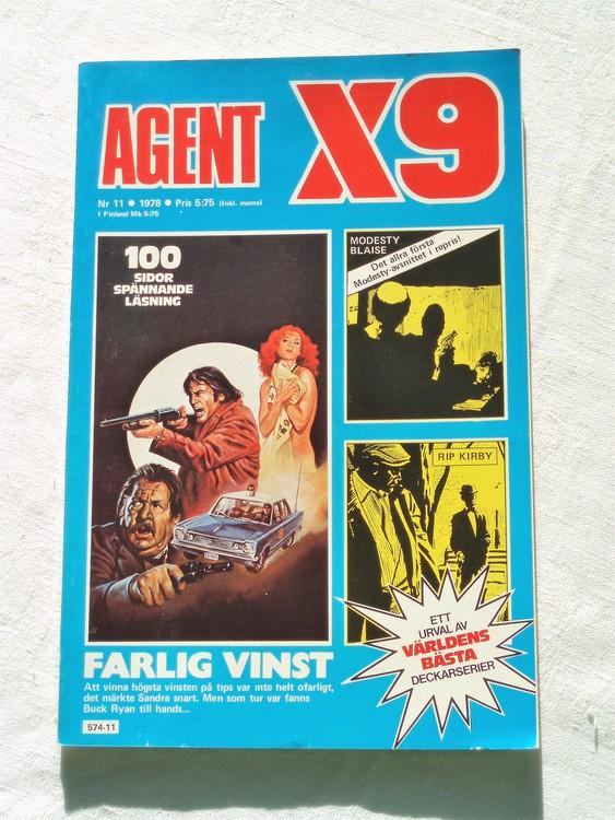 Agent X9 nr 11 1978 mycket bra skick ny oläst.