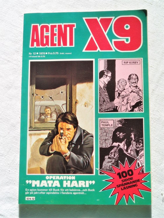 Agent X9 nr 12 1978 mycket bra skick ny oläst.