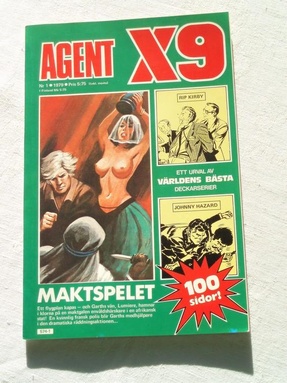 Agent X9 nr 1 1979 mycket bra skick ny oläst.