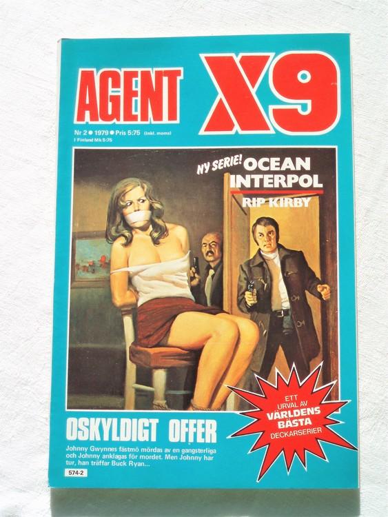 Agent X9 nr 2 1979 mycket bra skick ny oläst.