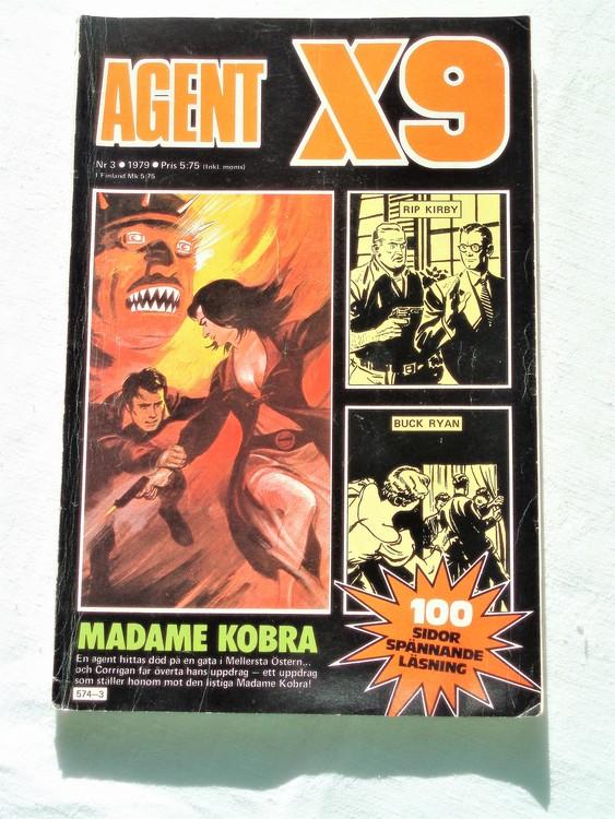 Agent X9 nr 3 1979 mycket bra skick ny oläst.