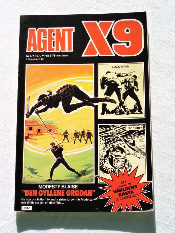 Agent X9 nr 5 1979 mycket bra skick ny oläst.