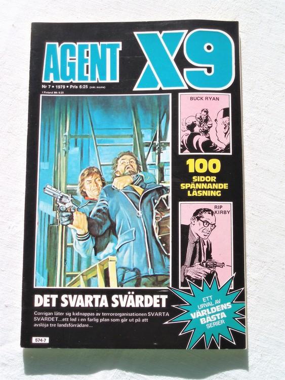 Agent X9 nr 7 1979 mycket bra skick ny oläst.