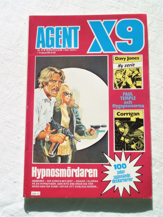 Agent X9 nr 11 1979 mycket bra skick ny oläst.