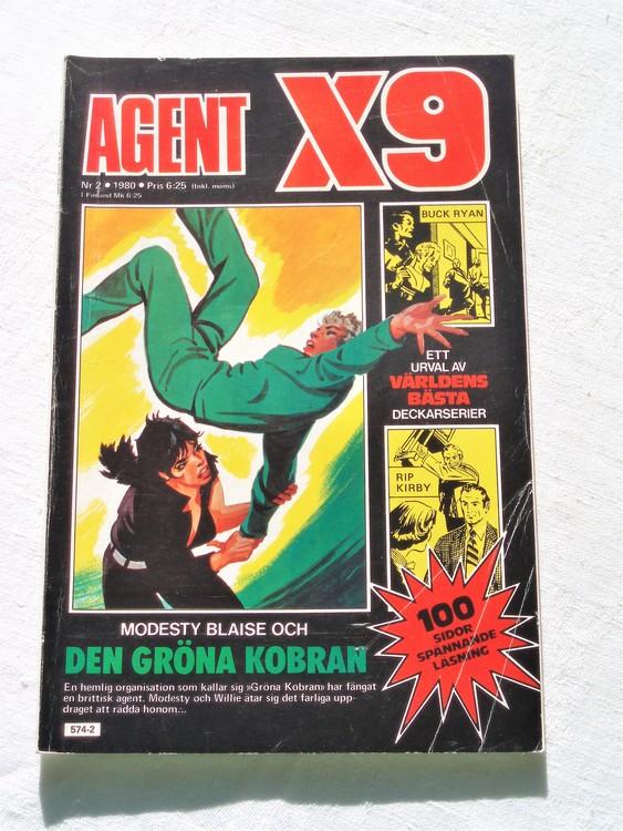 Agent X9 nr 2 1980 normalslitet bra skick.