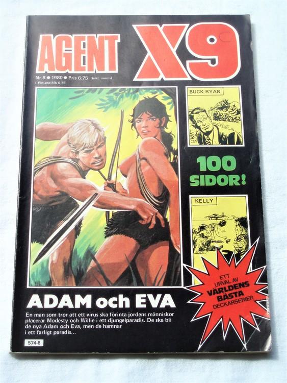 Agent X9 nr 8 1980 normalskick, normalslitet bra skick