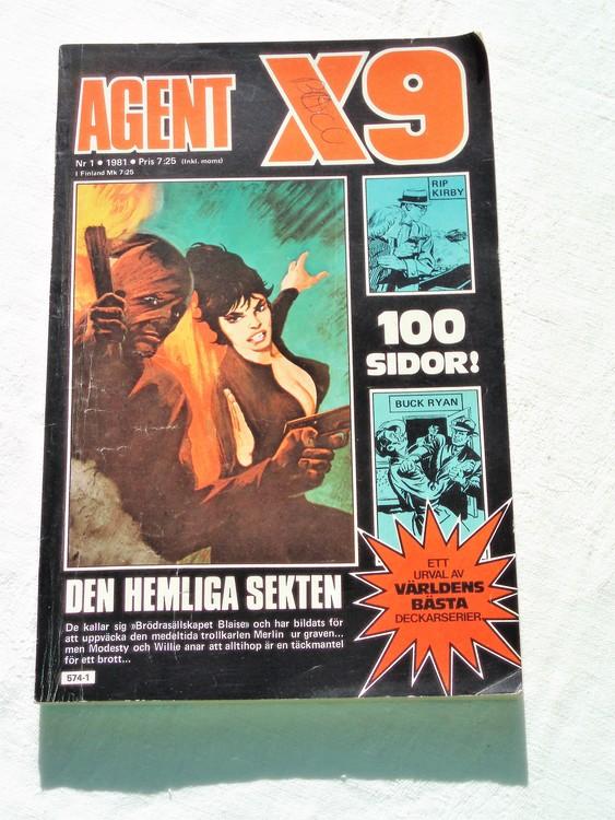 Agent X9 nr 1 1981 normalslitet bra skick.