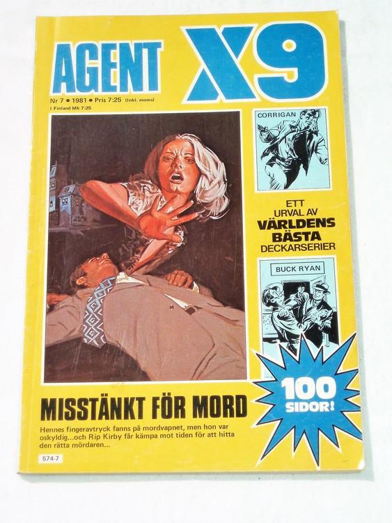 AgentX9 nr 7,1981 normalskick, normalslitet