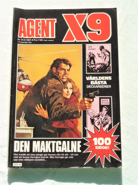 Agent X9 nr 10 1981 normalslitet bra skick.