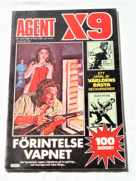 AgentX9 nr 13,1981 normalskick,normalslitet