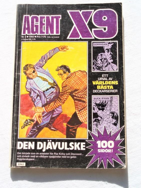 AgentX9 nr 2,1982,normalslitet,mycket bra skick