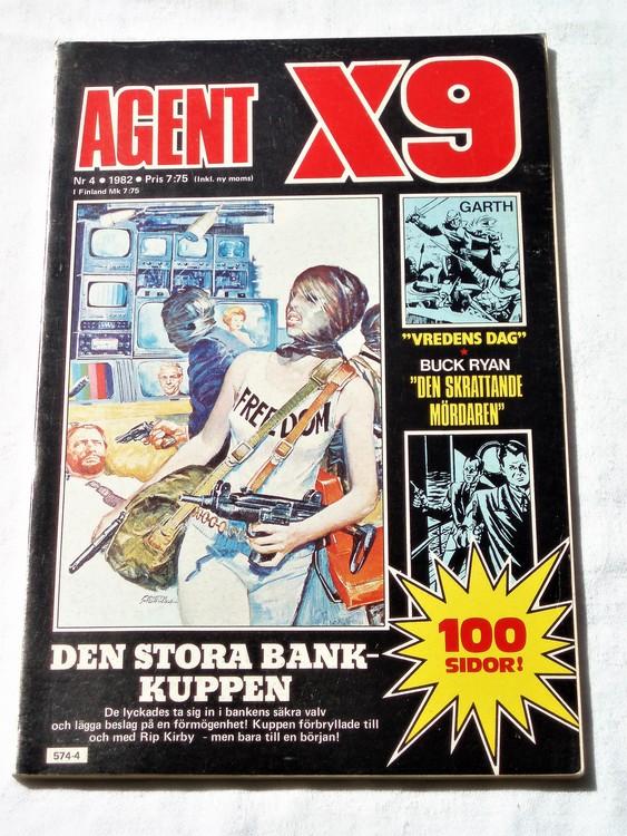 AgentX9 nr 4 1982 normalskick, normalslitet