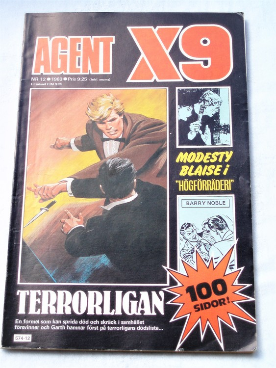Agent X9 nr 12 1983 normalskick, normalslitet