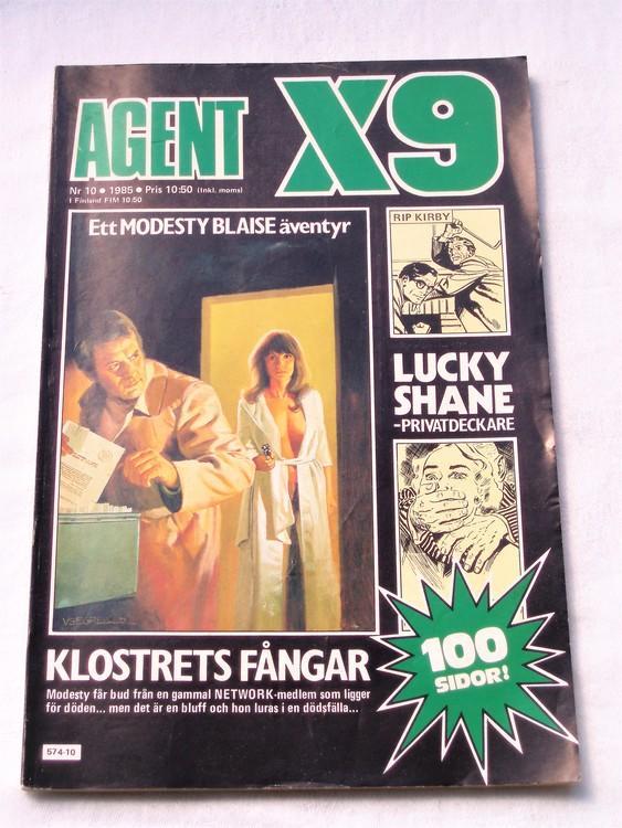 Agent X9 nr 10 1985 normalskick, normalslitet