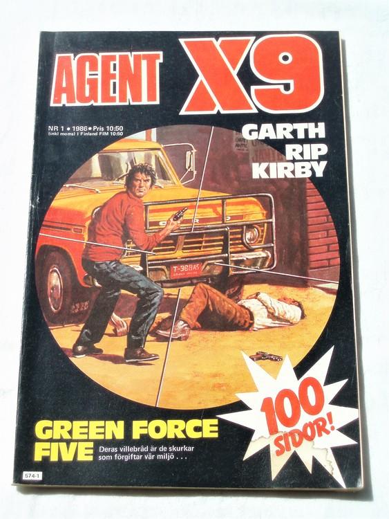 Agent X9 nr 1 1986 normalskick, normalslitet