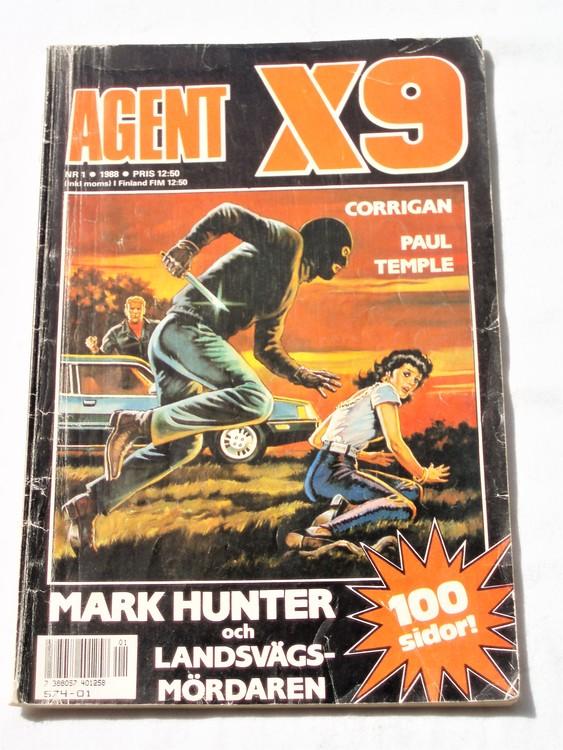 Agent X9 nr 1,1988 normalskick, normalslitet