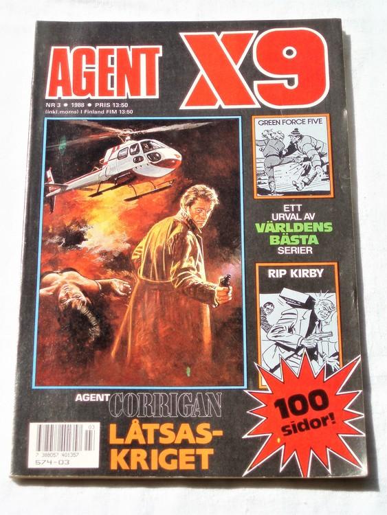 Agent X9 nr 3 1988 normalskick, normalslitet