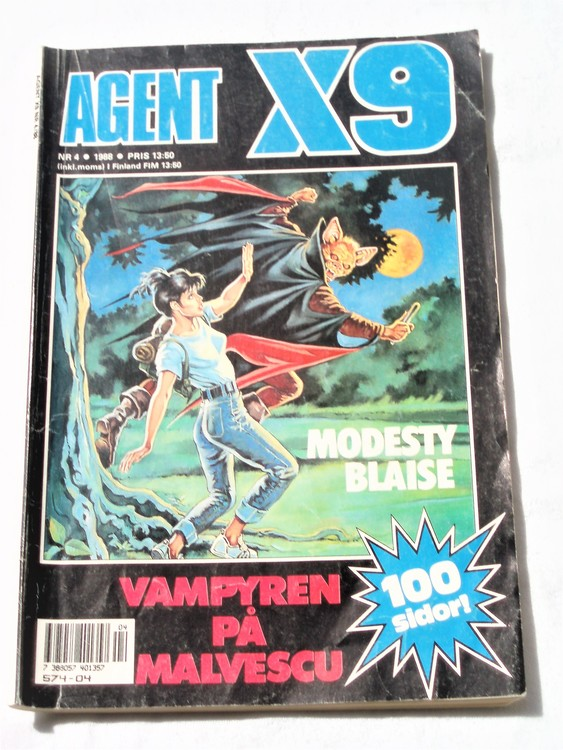 Agent X9 nr 4 1988 normalskick, normalslitet