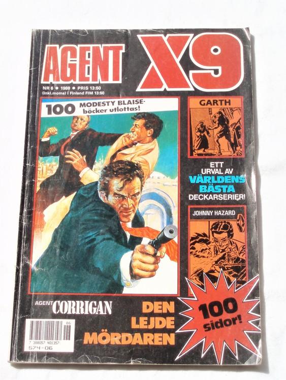 Agent X9 nr 6 1988 normalskick, normalslitet