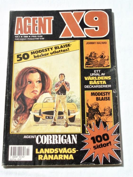 Agent X9 nr 7 1988 normalskick, normalslitet